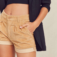 Urban Renewal Recycled Cuffed Corduroy Short | Urban Outfitters