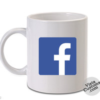 facebook logo, Coffee mug coffee, Mug tea, Design for mug, Ceramic, Awesome, Good, Amazing