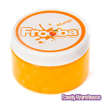 Mango Frooba Bursting Fruit Bubbles Jar | CandyWarehouse.com Online Candy Store