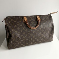 Authentic LOUIS VUITTON Vintage Monogram Speedy 40
