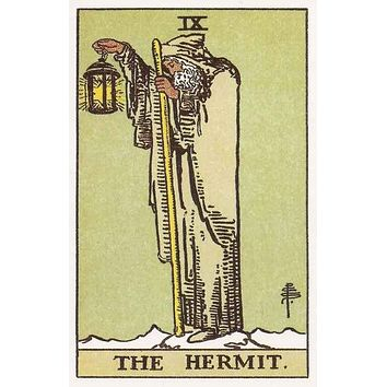 The Hermit Tarot Card Poster 11x17