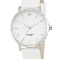 kate spade new york 'metro' embossed leather strap watch