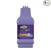 Swiffer WetJet Multi-purpose Floor Cleaner Solution Refill with Febreze Lavender Vanilla & Comfort Scent 1.25L (Pack of 6)