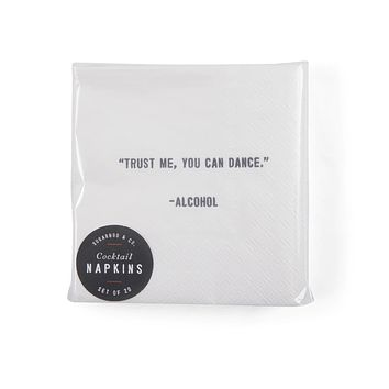 """""""Trust Me, You Can Dance"""" Cocktail Napkins"""
