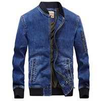 Men jeans jacket brand new fashion bomber denim jackets mens casual cowboy embroidered 4XL coat streetwear male clothes chaqueta