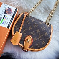 Bunchsun Louis Vuitton LV Fashion Women Shopping Bag Leather Shoulder Bag Crossbody Satchel