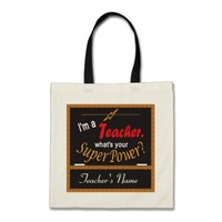 I'm A Teacher, What is your Super Power Budget Tote Bag