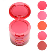 5 color Blusher Palette With Brush Waterproof Blush Face Makeup Cheek Color Blusher
