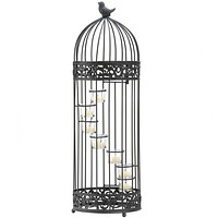 Spiral Staircase Birdcage Candle Holder