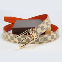 Louis Vuitton LV Woman Fashion Smooth Buckle Belt Leather Belt-65
