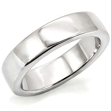 Simple Engagement Rings LO1261 Rhodium Brass Ring