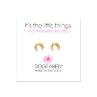 Crescent Moon Studs, Gold Dipped | Dogeared