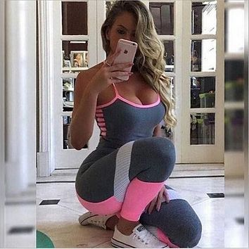 Pretty In Pink Fitness Jumpsuit