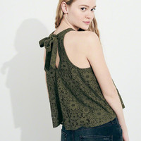 Girls Tie-Back Lace High-Neck Tank | Girls New Arrivals | HollisterCo.com