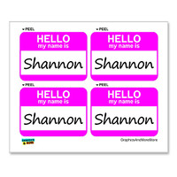 Shannon Hello My Name Is - Sheet of 4 Stickers
