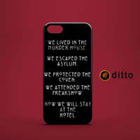 AMERICAN HORROR STORY Design Custom Case by ditto! for iPhone 6 6 Plus iPhone 5 5s 5c iPhone 4 4s Samsung Galaxy s3 s4 & s5 and Note 2 3 4