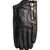 Leather Gloves - from H&M