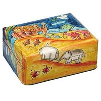 Small Noah'S Ark Wooden Jewlery Box.