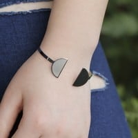 Shiny Jewelry New Arrival Stylish Accessory Strong Character Metal Bangle [7271663751]