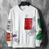 High Quality Autumn Spring Fashion Oversize Tshirt Men'S Long Sleeve Casual O Neck T-Shirt For Man TOP