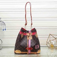 Louis Vuitton Women Fashion Leather Satchel Shoulder Bag Handbag