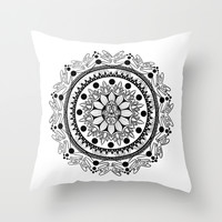 Spirit Mandala Throw Pillow by Britt Bolduc
