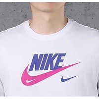 NIKE Popular Men Casual Print Short Sleeve Round Collar Sport T-Shirt Top