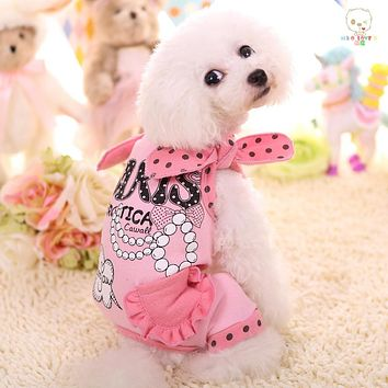 Pet Polka Accented Jumpsuit (Pink, Yellow, Grey & Blue)