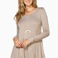 ShopSosie Style : Shiloh Swing Top in Taupe