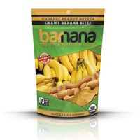 Barnana Organic Chocolate Chewy Banana Bites 3.5 Oz Pouches- Pack of 3