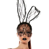 Starline Lace Bunny Mask