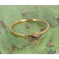 Tiny Solid 14k Rose Gold Alexandrite Ring