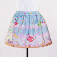Fairy Kei Creepy Cute Ice Cream Sprinkles Candy Skull Mini Skirt