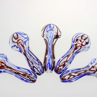 Glass Spoon Pipes for smoking colorful bongs for tobacoo pipe oil rigs Glass pipes free shipping