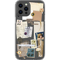 Vintage Collage Clippings Clear Phone Case