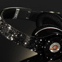 Customized Beats by Dre Headphones   Celebrity Status We Use 100 Percect Swarovski Elements Only