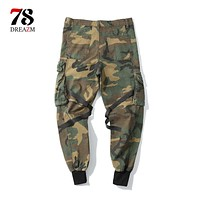 Men's Cargo Pants Casual Mens Pant Pocket Military Overall Men Fashion Outdoors High Quality Long Trousers