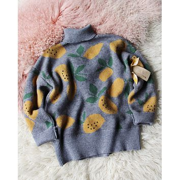 Tutti Fruity Sweater in Lemon