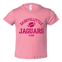 Daddys Little Jaguars Fan Toddler And Youth T-Shirt Jacksonville Fans Printed Tee for Kids Creepers & T-Shirts. Makes a Great Gift!!