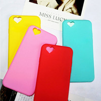Phone Cases For iPhone 6 6S 6/6S Plus SE 5 5S  Soft Plastic Classic Cute Candy Color Loving Heart For iPhone 6 Case