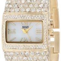 Badgley Mischka Women's BA/1154MPGB Swarovski Crystal-Covered Gold-Tone Bangle Watch