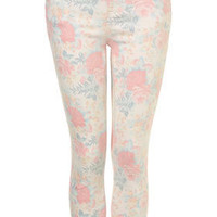 MOTO Floral Print Skinny Jeans - Jeans - Clothing - Topshop