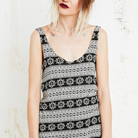 Staring at Stars Shirttail Linear Tank - Urban Outfitters