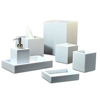 Contours White Bath Accessories by Mike + Ally