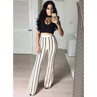 Pelli Set Nude and Black High Waist Bandage Trousers