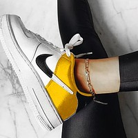Nike Air Force One AF1 NBA Sneaker Silk Contrast yellow