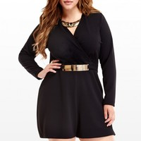 Plus Size Belted Romper   Fashion To Figure