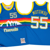 Mitchell & Ness Dikembe Mutombo 1991-92 Authentic Jersey Denver Nuggets In Multicolor