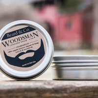 Mens Cologne Solid Fragrance .5 oz - Beard & Co. Woodsman - Organic Beeswax and Essential Oils Valentine's Day Gift for Him