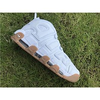 Nike Air more uptempo white Basketball Shoes 40-46